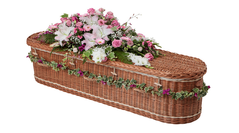 Curved-End-Willow-Coffin-with-Cream-Bands