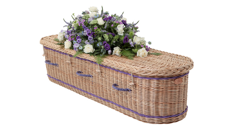 Curved-End-Willow-Coffin-with-Purple-Bands